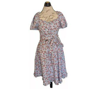Gal Meets Glam Marianna Blue Floral Dress Size 12